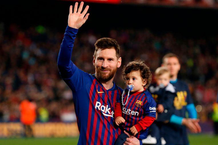 Messi met Ciro op het einde van vorig seizoen.