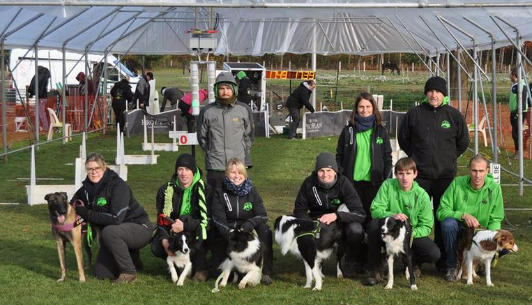 The Green Angels, een van de drie teams van de Runners, bij de teamvoorstelling.