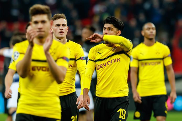 Borussia Dortmund na het verloren duel met Tottenham Hotspur (0-3).