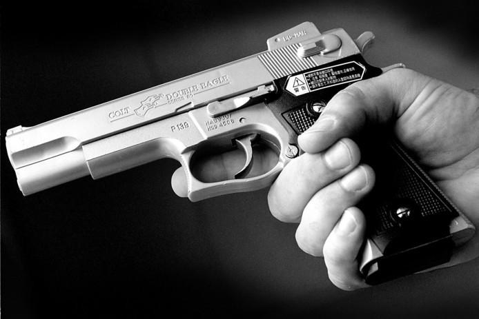 Ter illustratie. Een nepvuurwapen.