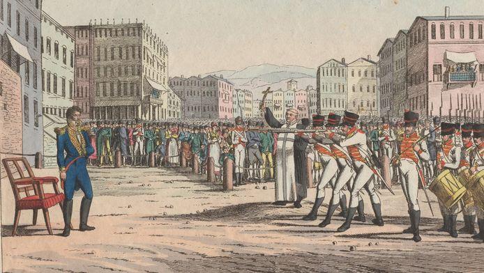 Exécution du maréchal de Napoléon Joachim Murat en 1815
