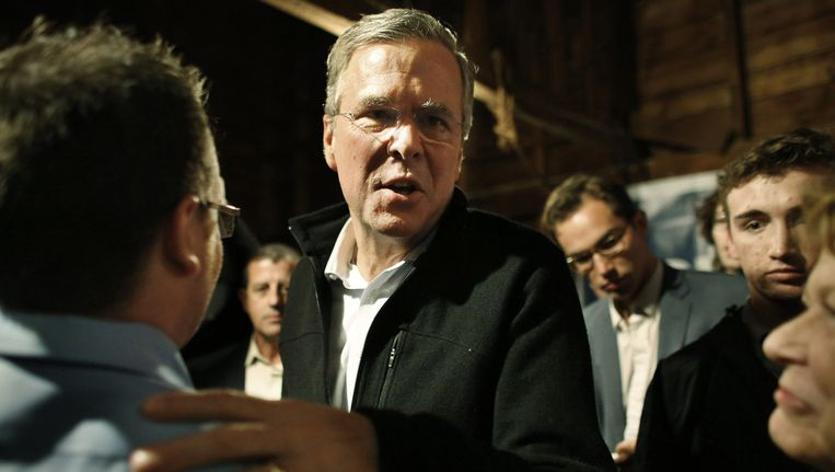 Jeb Bush op campagne. Beeld ap