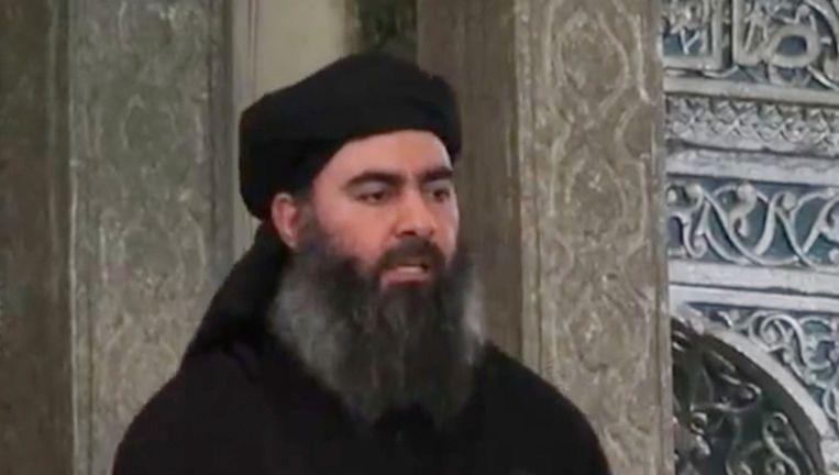 De leider van ISIS, Abu Bakr al-Baghdadi. Beeld AP