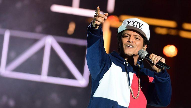 Bruno Mars op de EMA's in november 2016. Beeld afp
