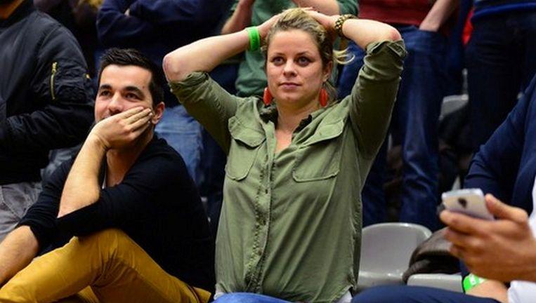 Deze foto doet anders vermoeden, maar Kim Clijster zag Limburg United wel degelijk winnen in Leuven.