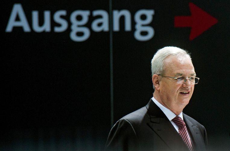 Het dieselschandaal kostte onder meer voormalig  Volkswagen-topman Martin Winterkorn zijn baan. Beeld EPA