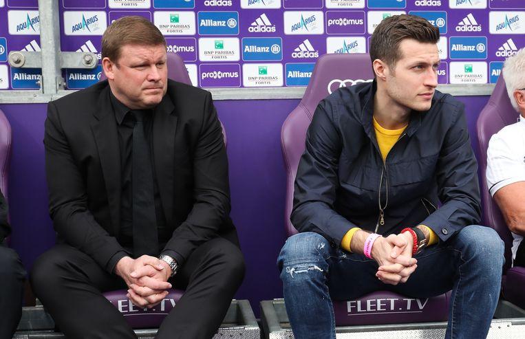 Spajic naast coach Vanhaezebrouck.
