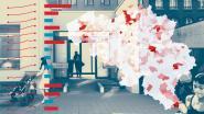 IN KAART. Alarmfase nu al in 99 gemeenten, vooral Antwerpen en rand kleuren donkerrood. Hoe snel stijgt het aantal besmettingen in uw regio?