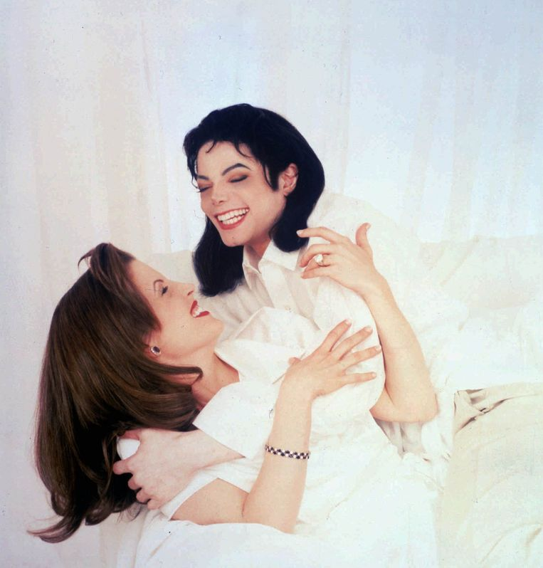 Michael Jackson en Lisa Marie Presley in 1995.
