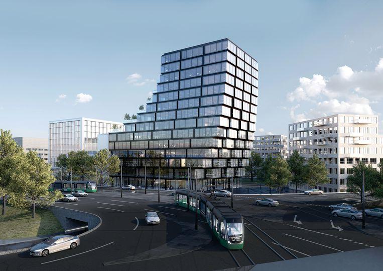 Impressie van het Suitsupply-hoofdkantoor tegenover de RAI. Beeld -