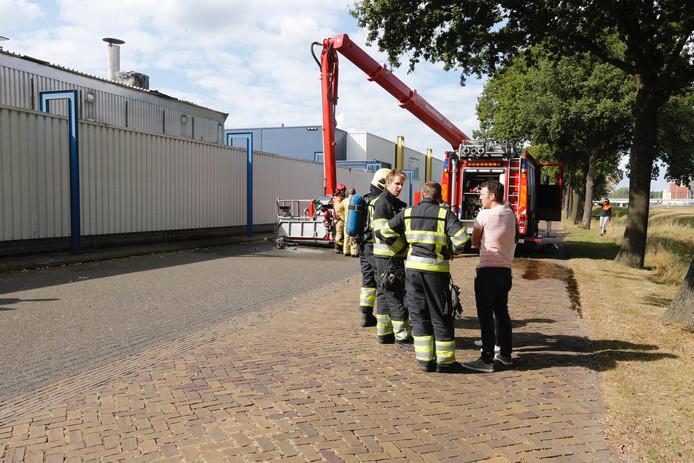 Brand bij Deurenfabriek Berkvens in Someren.