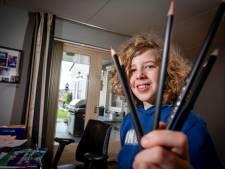 Rembrandt (10) uit Wezep gaat met zijn 'blijmakende' tekeningen de strijd aan voor Zapp Award en landelijke roem