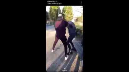 Tiener in elkaar geslagen in park