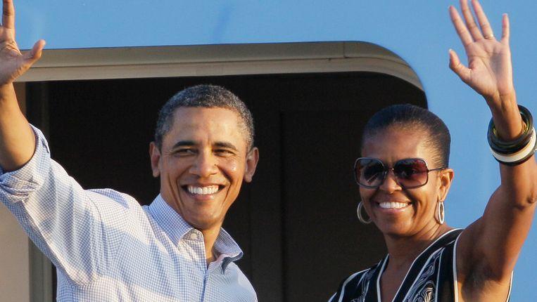 Michelle en Barack Obama. © AP Beeld AP