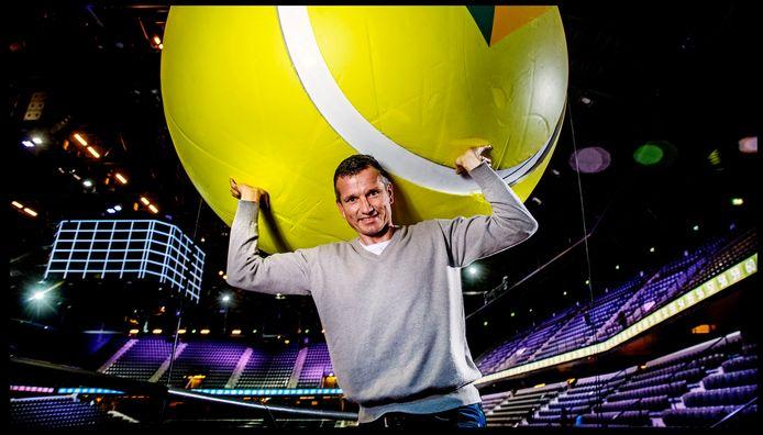 Portret van Richard Krajicek, toernooidirecteur van het ABN AMRO Tennistoernooi in Rotterdam Ahoy.