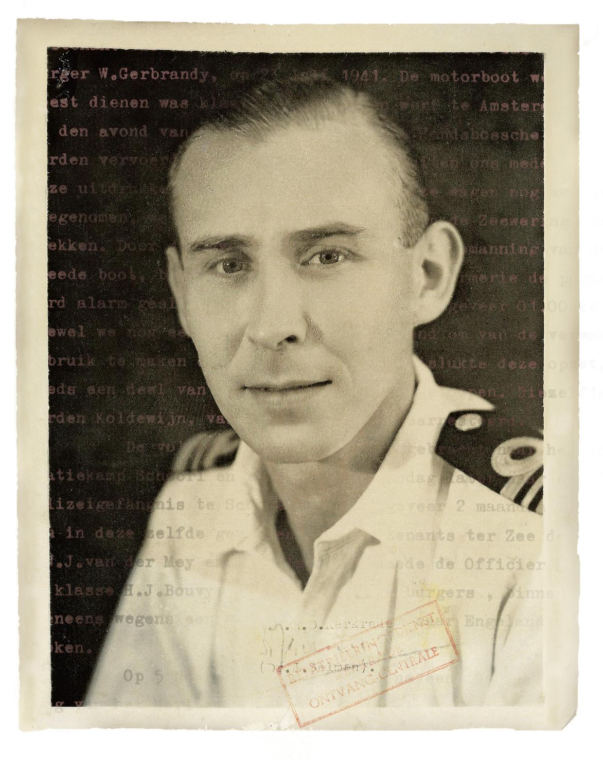 Wijnand Langeraar, de grootvader van Pieter Hotse Smit, op een ongedateerde foto - vermoedelijk kort na de Tweede Wereldoorlog. Beeld .