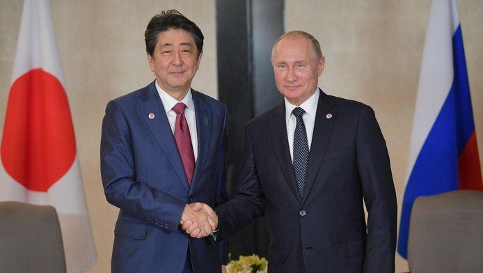 Le Premier ministre japonais Shinzo Abe et Vladimir Poutine