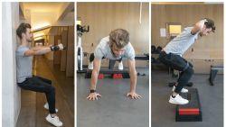 """Kinesist toont uit hoe je spieren kweekt door stil te staan: """"Ook professionele sporters gebruiken isometrische oefeningen"""""""
