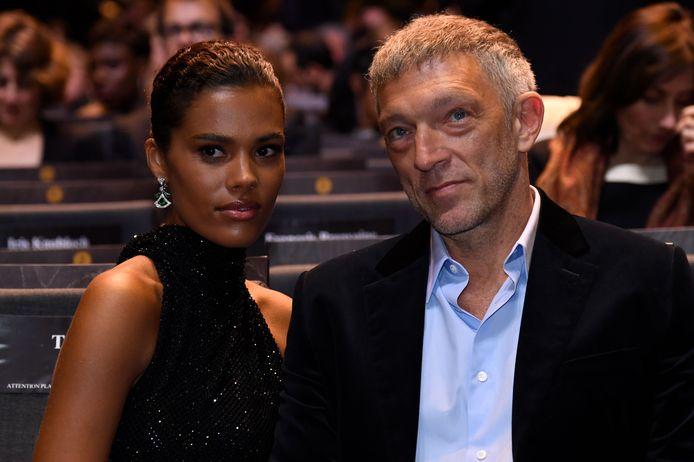 Vincent Cassel et sa femme Tina Kunakey.