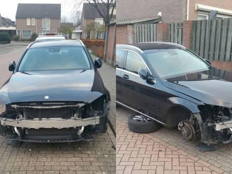 Je zult je auto zo aantreffen: Mercedes volledig gestript in Vlijmen
