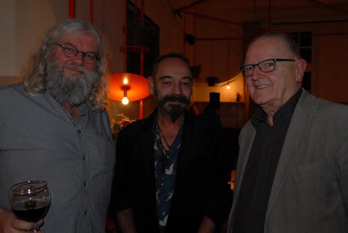 Drie dichters met de nodige levenservaring. V.l.n.r. Johan Meesters, Bob Kalkman en Ingo Audenaerd