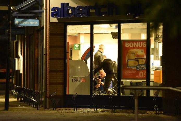 Plofkraak bij Albert Heijn in Leersum in de nacht van 29 op 30 december.