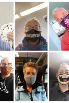 Dit zijn de meest bijzondere mondkapjes uit de regio: 'Humor in een lastige tijd'