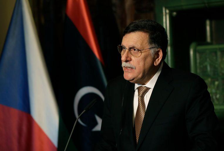 De Libische premier Fayez al-Sarraj.