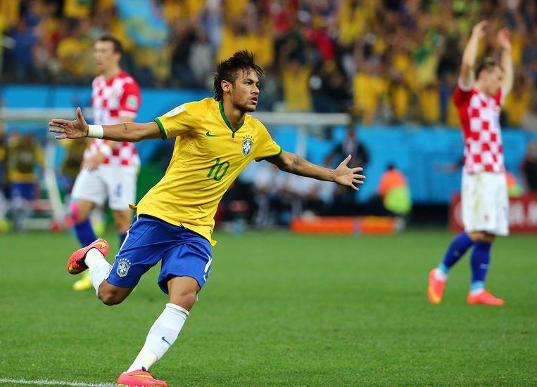 Vier jaar geleden redde Neymar het vel van de Brazilianen tegen Kroatië.