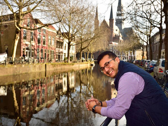 Foto Pim Mul 16022019 Gouda. Amir Kapadia uit Chicago trouwt in april in De Lichtfabriek.Hij is een weekend in Gouda om alles voor te bereiden.