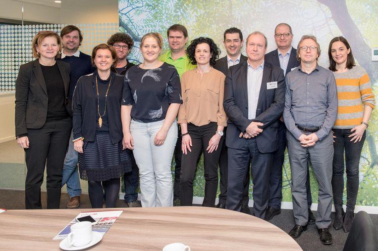 Het stadsbestuur, de Aalsterse bedrijven en organisaties bij Voka.
