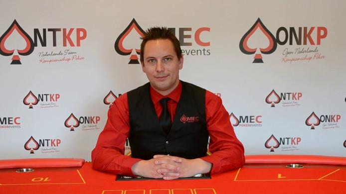 Pokertoernooi-organisator Evert-Jan van IJzendoorn.