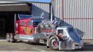 Vuurspuwende vrachtwagen met 4.000 pk geveild voor 13 miljoen dollar