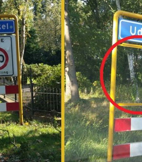 Aanhangwagen en verkeersbord gestolen in Uden