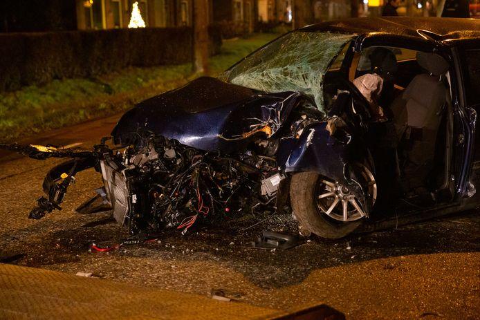 De automobilist raakte zwaargewond