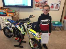 Jeffrey Herlings held voor talentvolle jonge motorcrossers