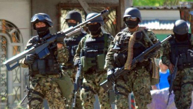 De Mexicaanse overheid voert al jaren strijd met de gewelddadige drugskartels. EPA/ANP Photo. Beeld
