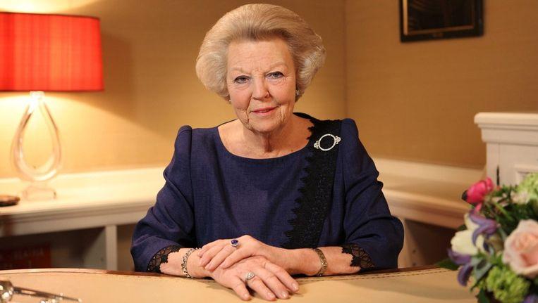 Koningin Beatrix kondigt haar aftreden aan. Beeld epa