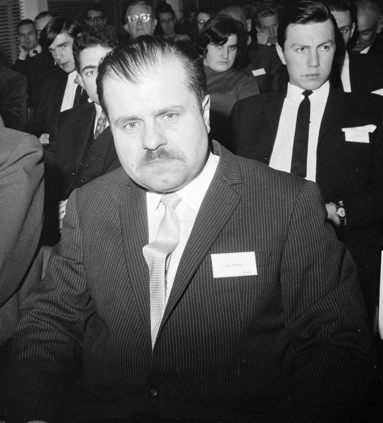 Een foto van Zdenek Dittrich uit 1969, toen werkzaam als hoogleraar Oost-Europese geschiedenis in Utrecht. Beeld anp