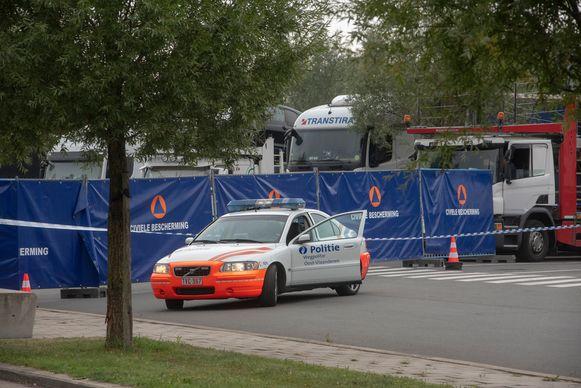 Archief : De parking in Wetteren werd in september afgesloten na een dodelijke steekpartij tussen migranten.