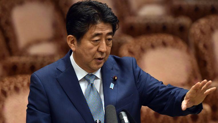 Premier Shinzo Abes toespraak was problematisch, zegt hoogleraar Japanse geschiedenis Tessa Morris-Suzuki. Beeld afp