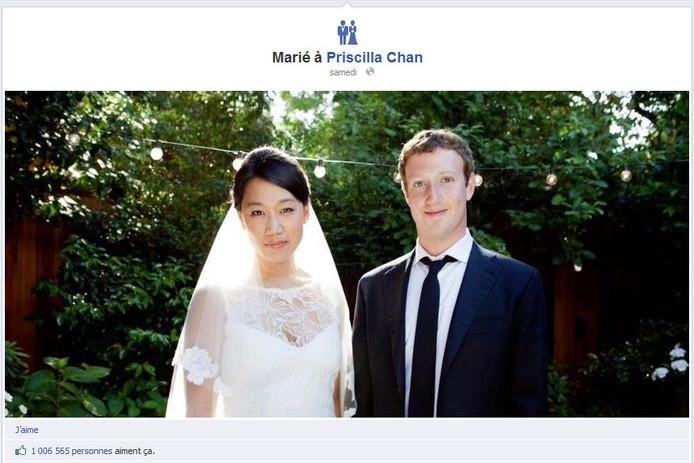 Congrats Mark! 1.006.565 personnes aiment ça.