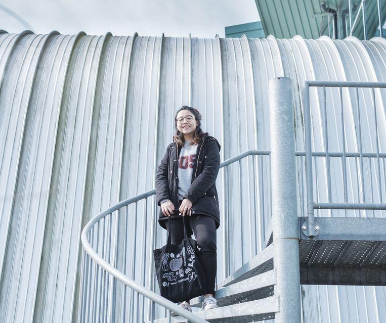 De ervaringen van Alvi Safira (19) uit Indonesië stroken niet met de verwachtingen die ze had. Beeld Sjaak Verboom