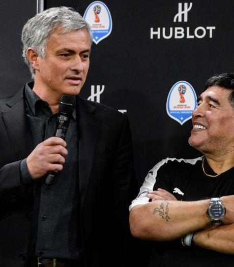 Mourinho huilt én lacht: 'Ik heb genoten van iedere minuut met Diego'