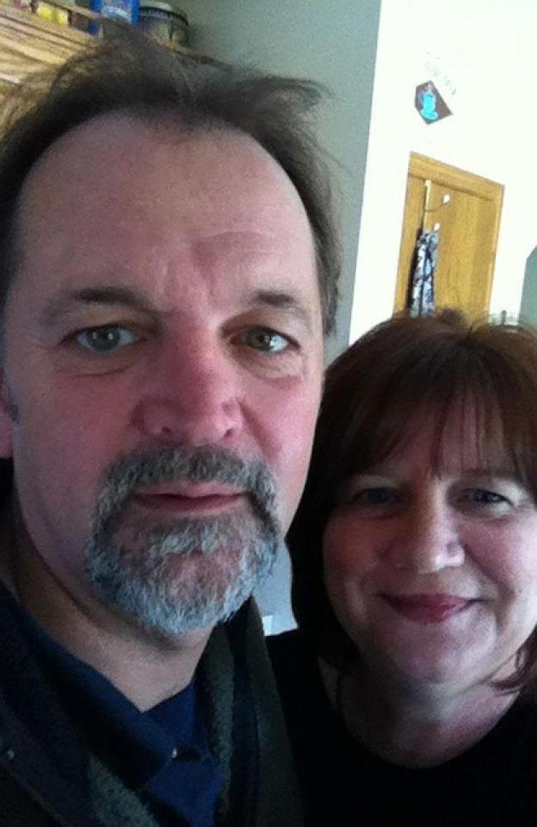 Karen Momsen-Evers met haar echtgenoot in betere tijden.