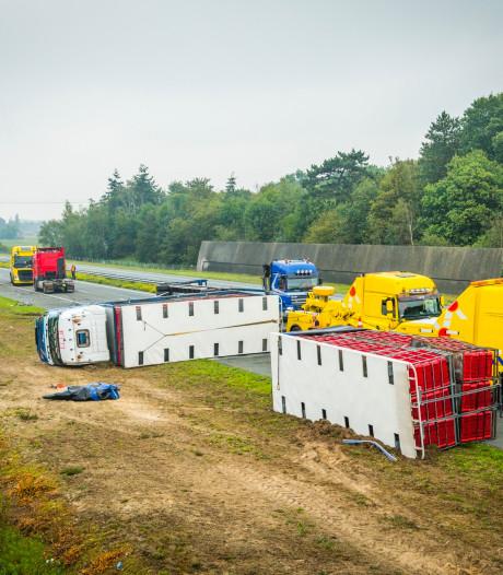 A50 tussen Veghel-Noord en Sint-Oedenrode weer vrij na urenlange afsluiting