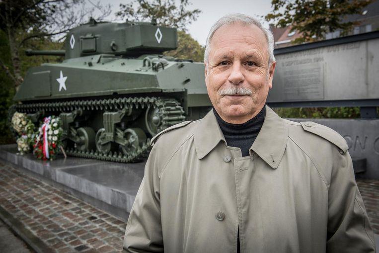 Carlos Heytens aan het Bevrijdingsmonument.
