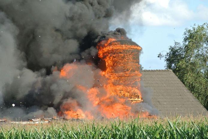 De brand in de schuur bij Lemelerveld