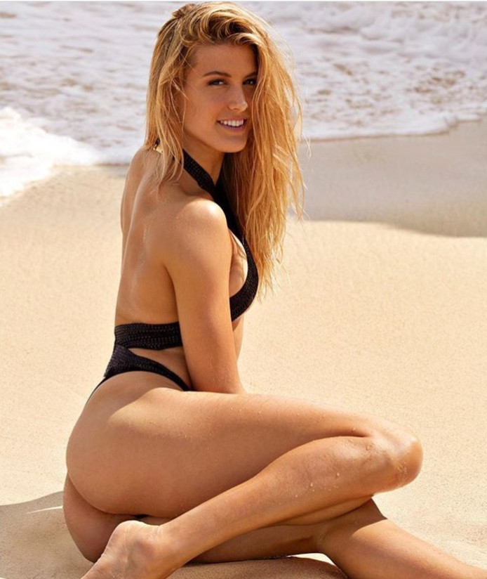 Eugenie Bouchard in bikini in de Sports Illustrated Swimsuit Issue 2018.