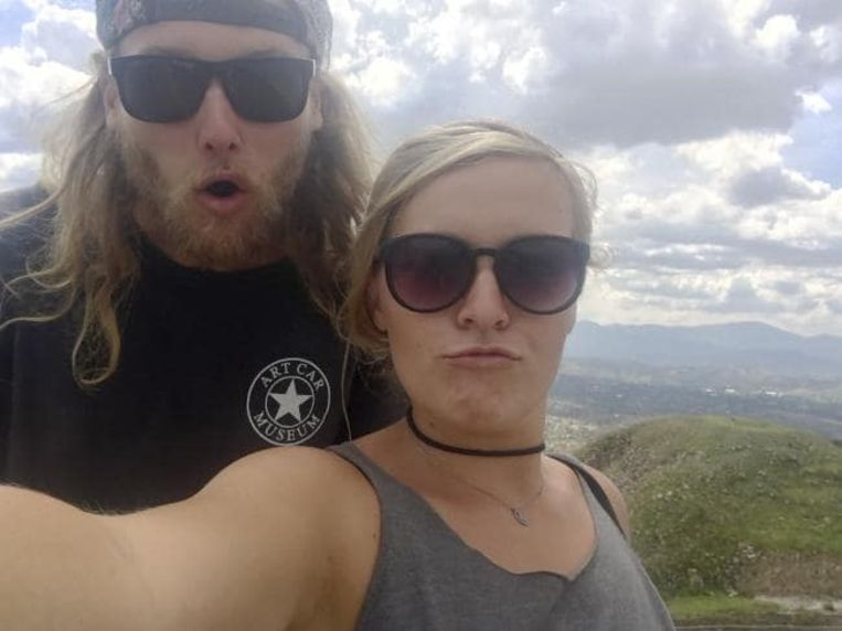Lucas Deese en zijn vriendin Chynna.